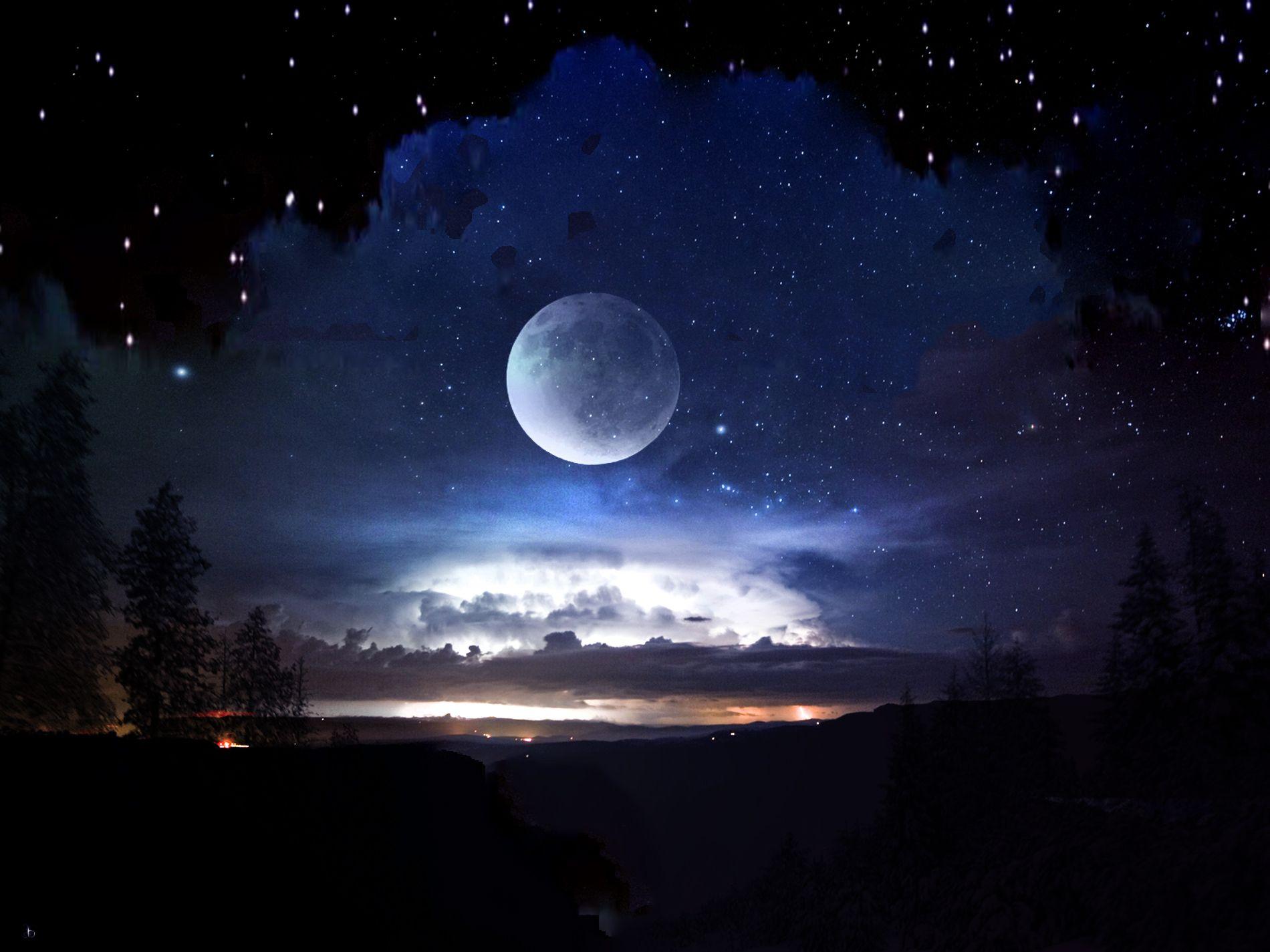 Картинки луна и звезды красивые, украсить открытка своими