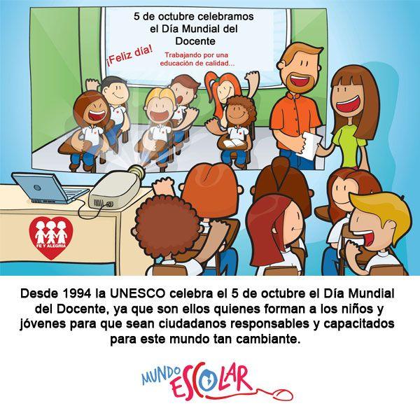 Diamundialdeldocente Mundoescolar Felicita A Todos Los Docentes En Su Dia Comics