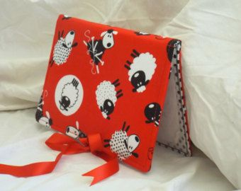 Pattern Wallet Keeper Folder Chart Holder Knitting Sheep Lamb Knit