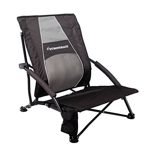 Strongback Low Gravity Beach Chair With Lumbar Support Great Comfort While Sitting To The Ground Due Patented Frame Integrated
