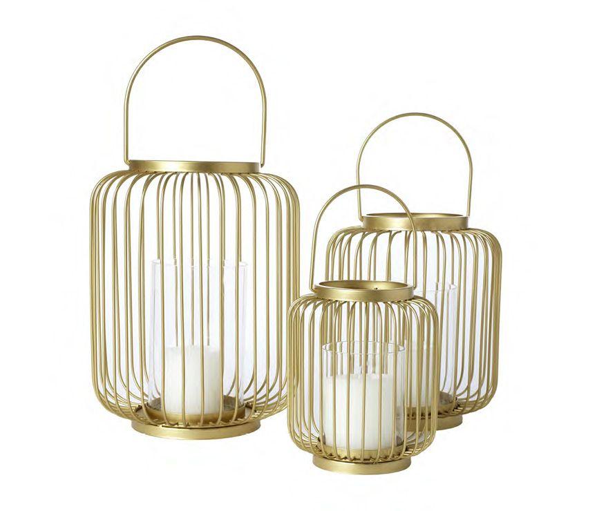 Target Threshold gold wire hurricane lanterns. Arrives 3