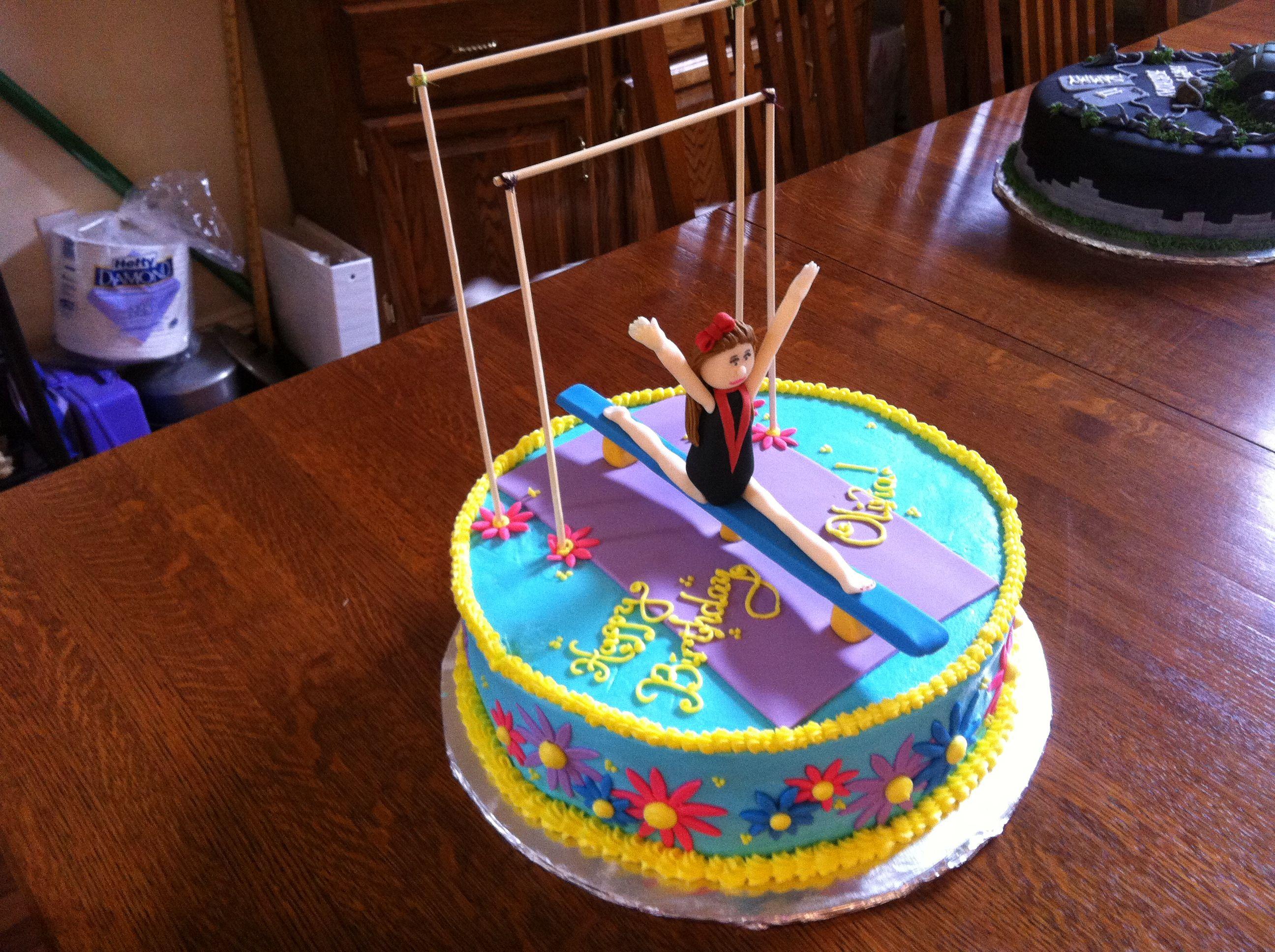 Tremendous Gymnastics Cake Gymnastics Cakes Gymnastics Birthday Cakes 3Rd Personalised Birthday Cards Cominlily Jamesorg