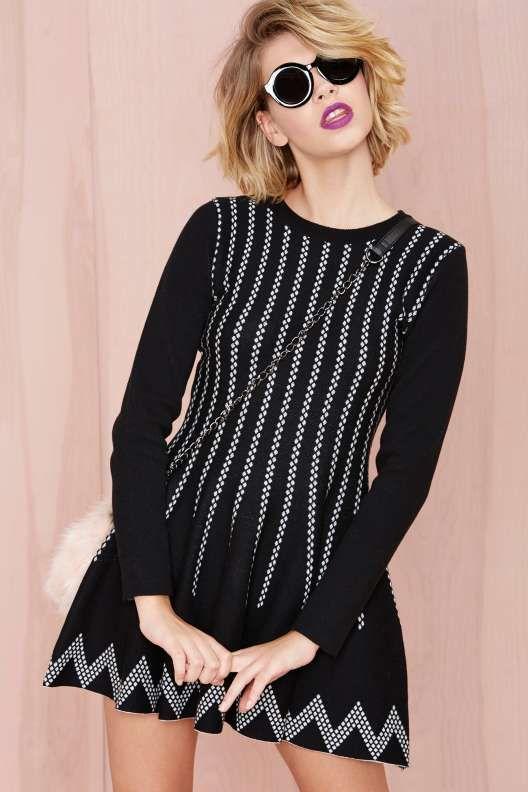 90cea5f9b140 Nellie Knit Dress - Black Friday | 100% Meri | Knit dress, Dresses ...