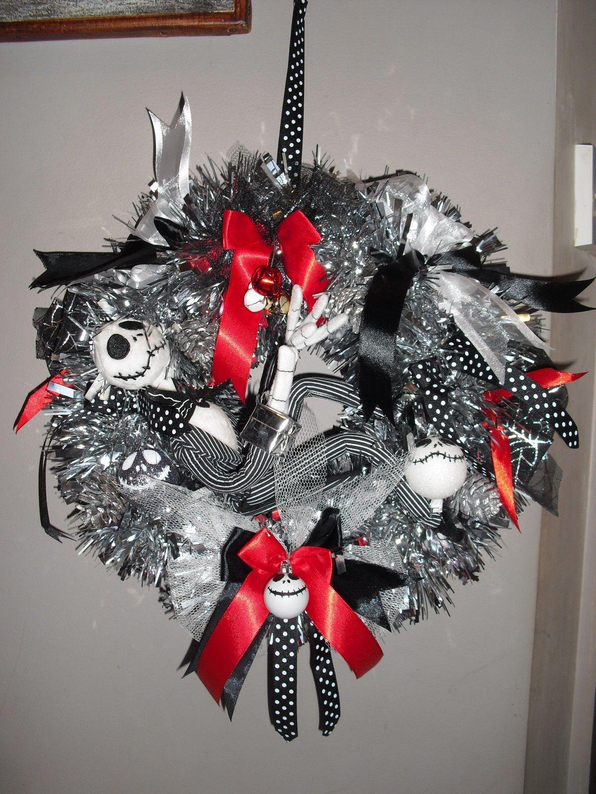 Jack Skellington wreath toy Nightmare Before
