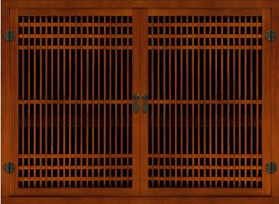 Greentea Design Lattice Doors with round iron hinges  sc 1 st  Pinterest & Greentea Design Lattice Doors with round iron hinges | Japanese Room ...