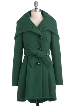 Once Upon a Thyme Coat. Your style and palette may be all grown up, but you still love to hear classic fairy tales from your childhood! #green #modcloth