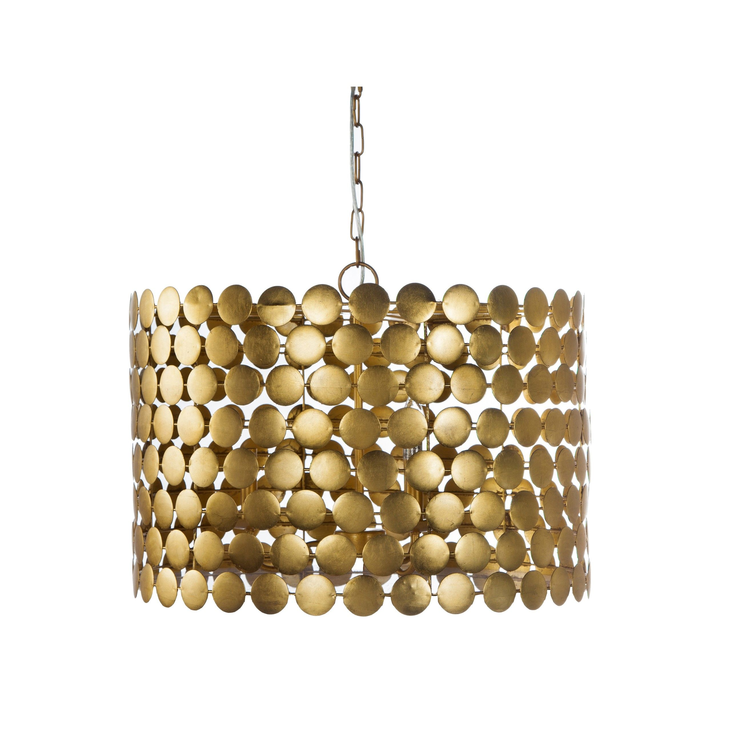 Parker G Gold Leaf Dot Chandelier With Three Light Cer Uses 40w Candelabra Base Bulbs 3 Matching Chain Is Included