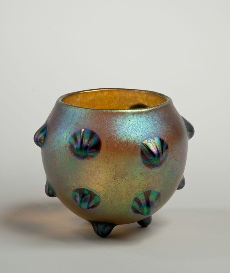 Vase, c. 1900. Blown gl; Blown gl; Glasfabrik Johann Loetz ... on