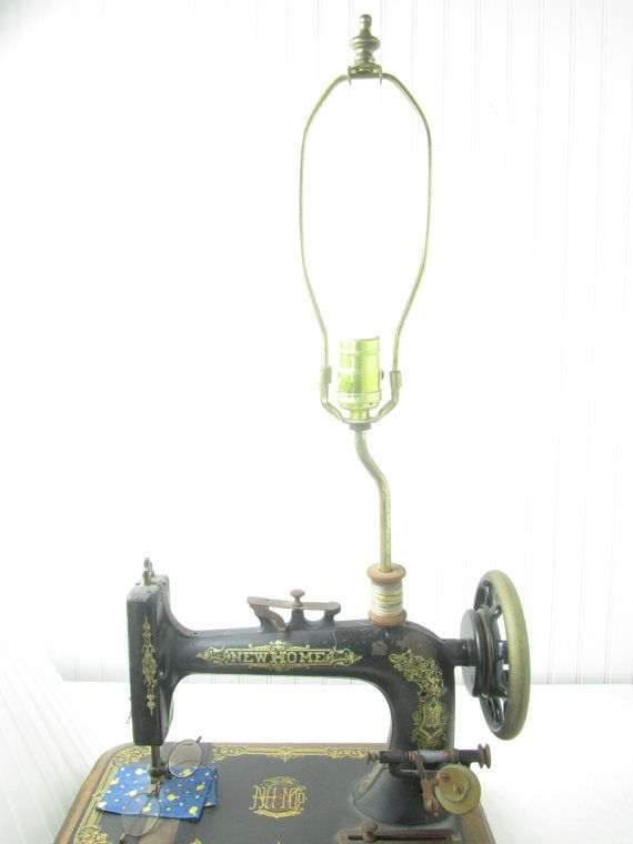 Lustre Industriel Laurie Sewing Machine Lamp Vintage Lamp Table Lamp New Home