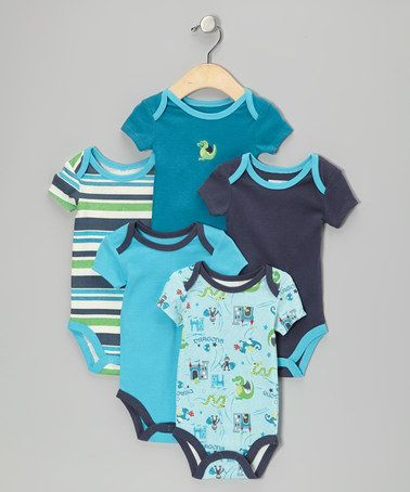e0dc6fa31 Take a look at this Turquoise Dragon Bodysuit Set by Vitamins Baby ...