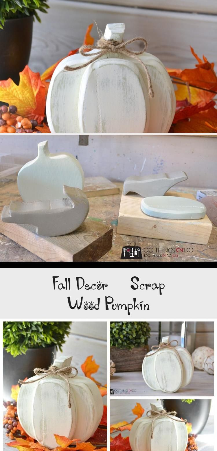 Fall Decor - Scrap Wood Pumpkin in 2020 (With images ...