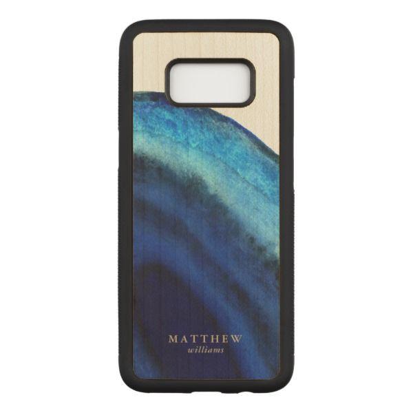 Blue Agate Carved Samsung Galaxy S8 Case | Zazzle.com