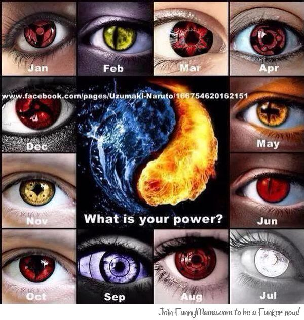 Anime Characters Born On October 8 : What s your power mines november naruto pinterest