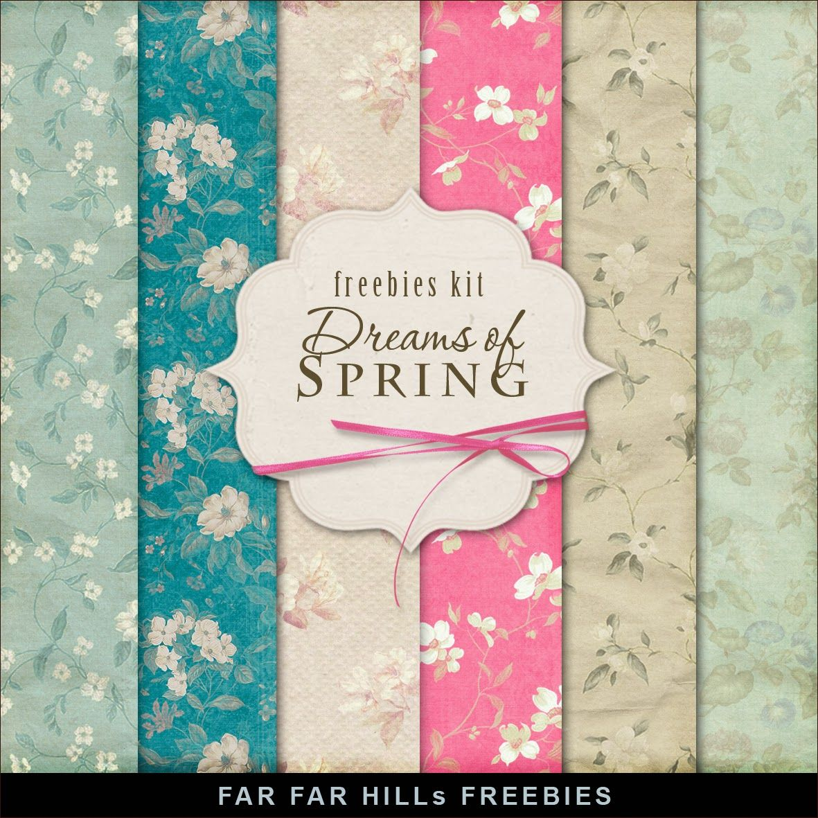 New Freebies Kit of Backgrounds - Dreams of Spring