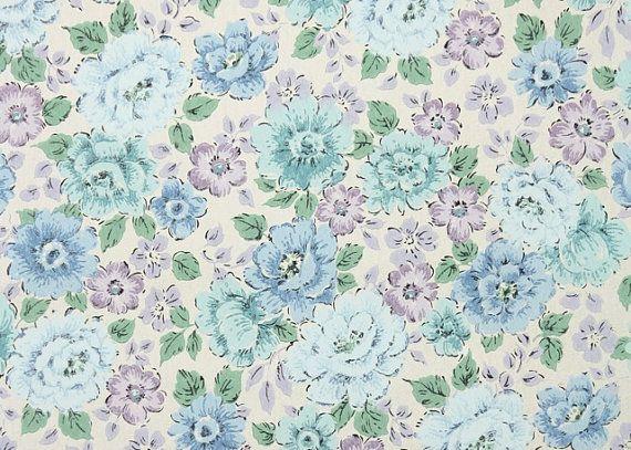 1960 39 S Vintage Wallpaper Floral Wallpaper Of Lavender Purple And Light Blue Vintage Wallpaper Blue Floral Wallpaper Vintage Wallpaper Patterns