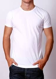 fitted white tee