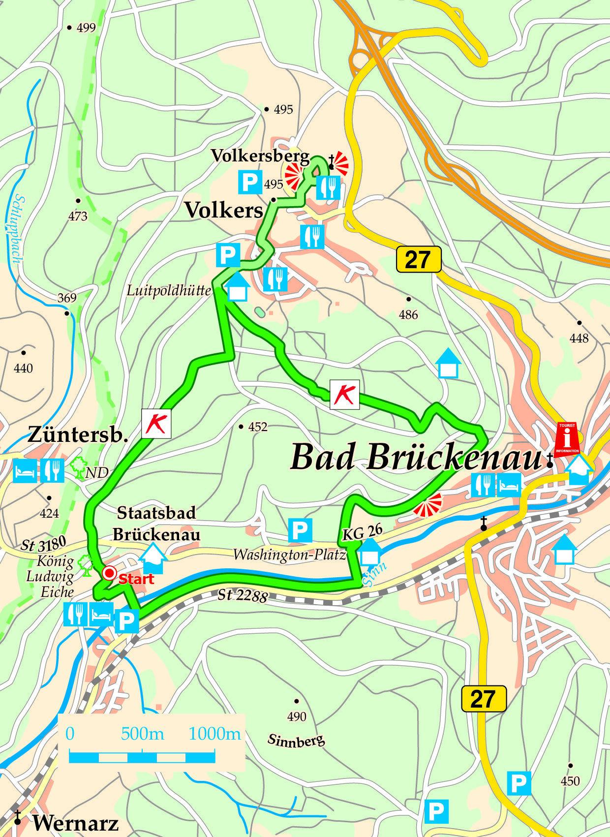 Extratour Konigsweg Karte Reisen Bad Bruckenau Ludwig