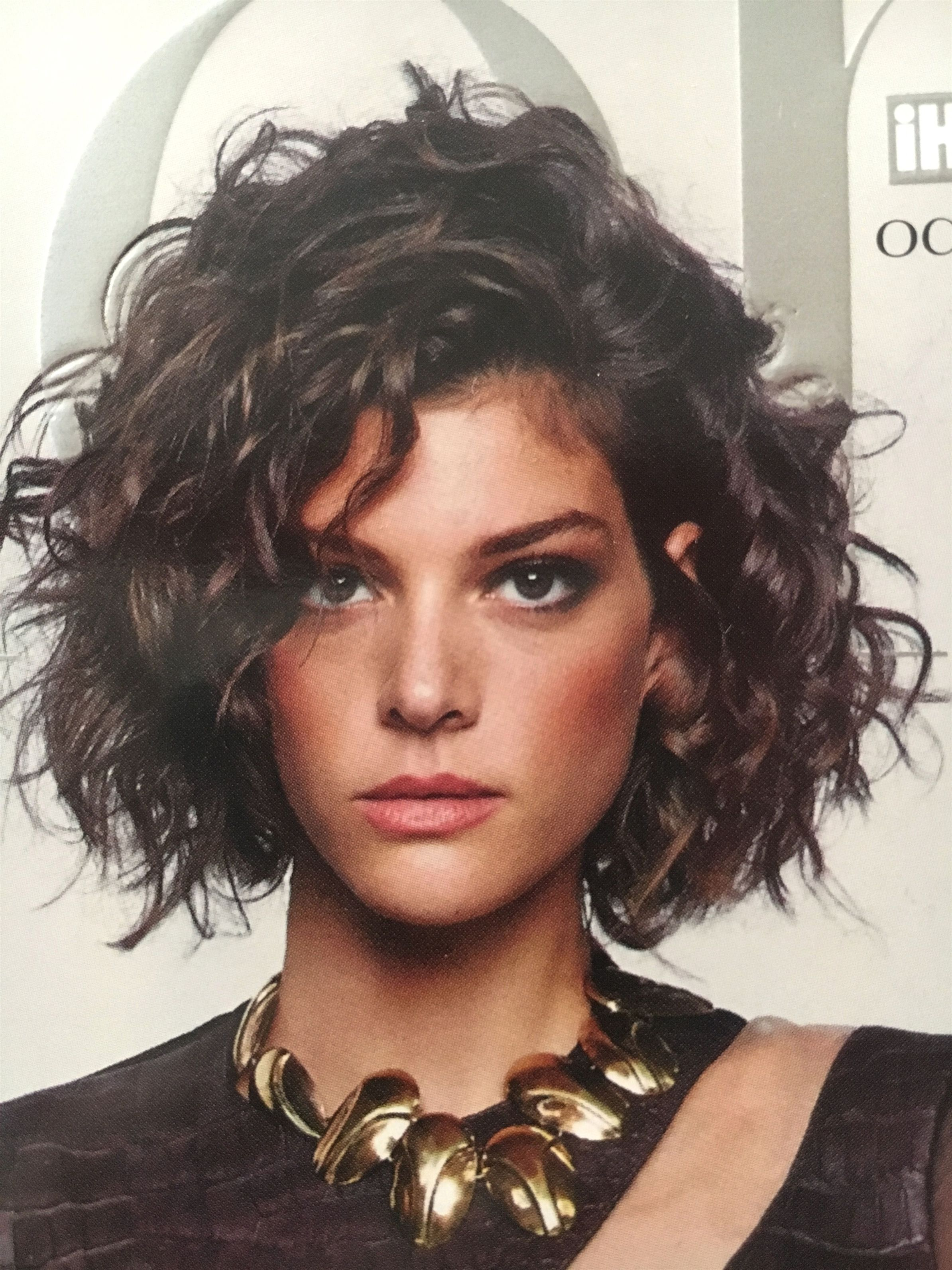 jaw length bob for curly wavy hair #hairstylesforcurlyhair