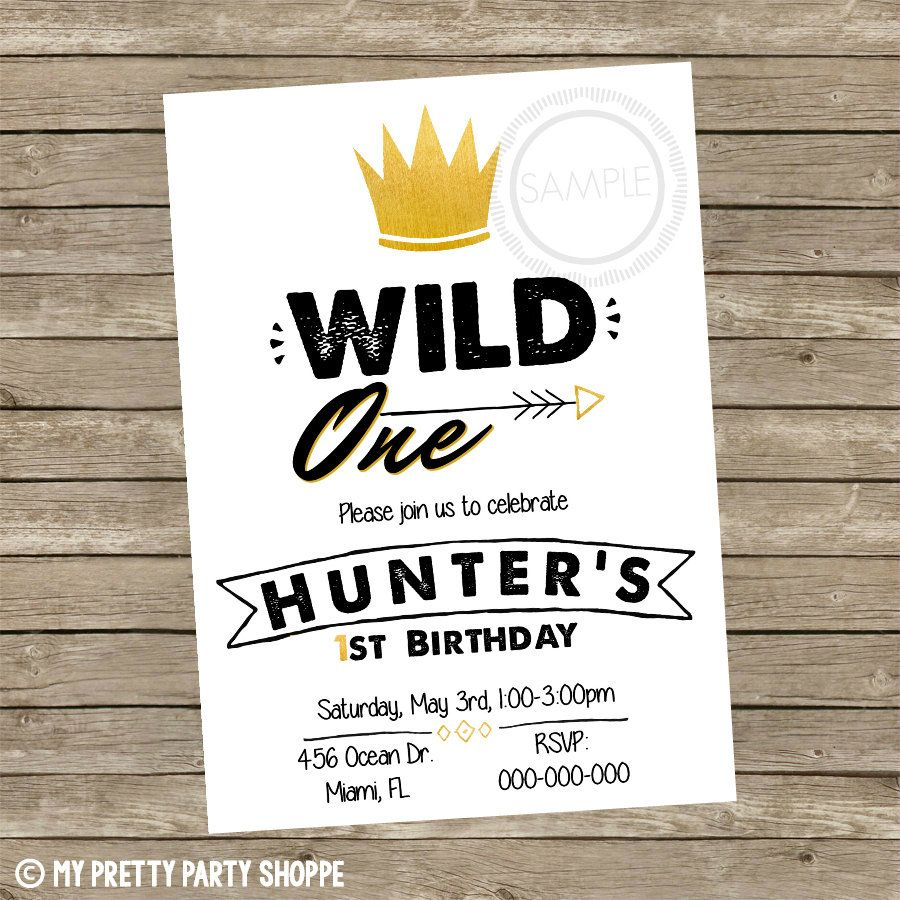 Wild Child Wild One First Birthday 1st Birthday Animal Safari Jungle Birthday Part Jungle Birthday Party Birthday Party Invitations Animal Birthday