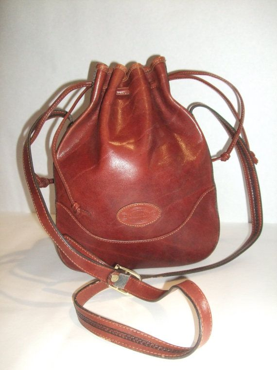 Vintage Oroton Brown Leather Crossbody By Retrocollective77 79 00 Drawstring Bags