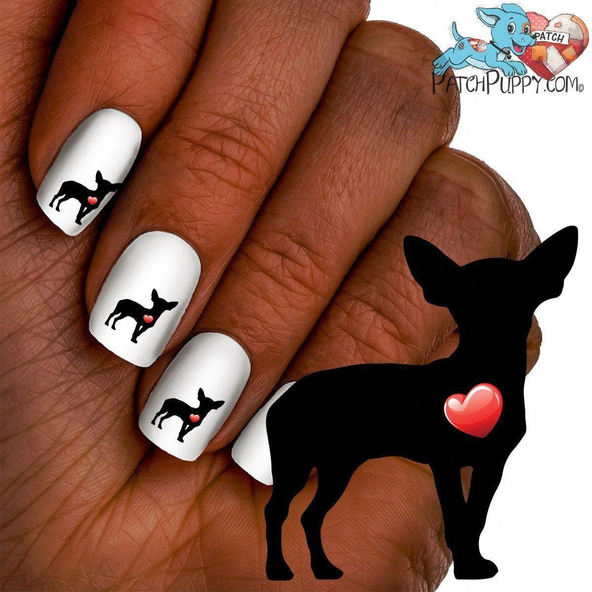 My Heart Chihuahua Nail Art Decals Now 50 More Free Chihuahua Nail Art Ballerina Nails Ballerina Nails Designs