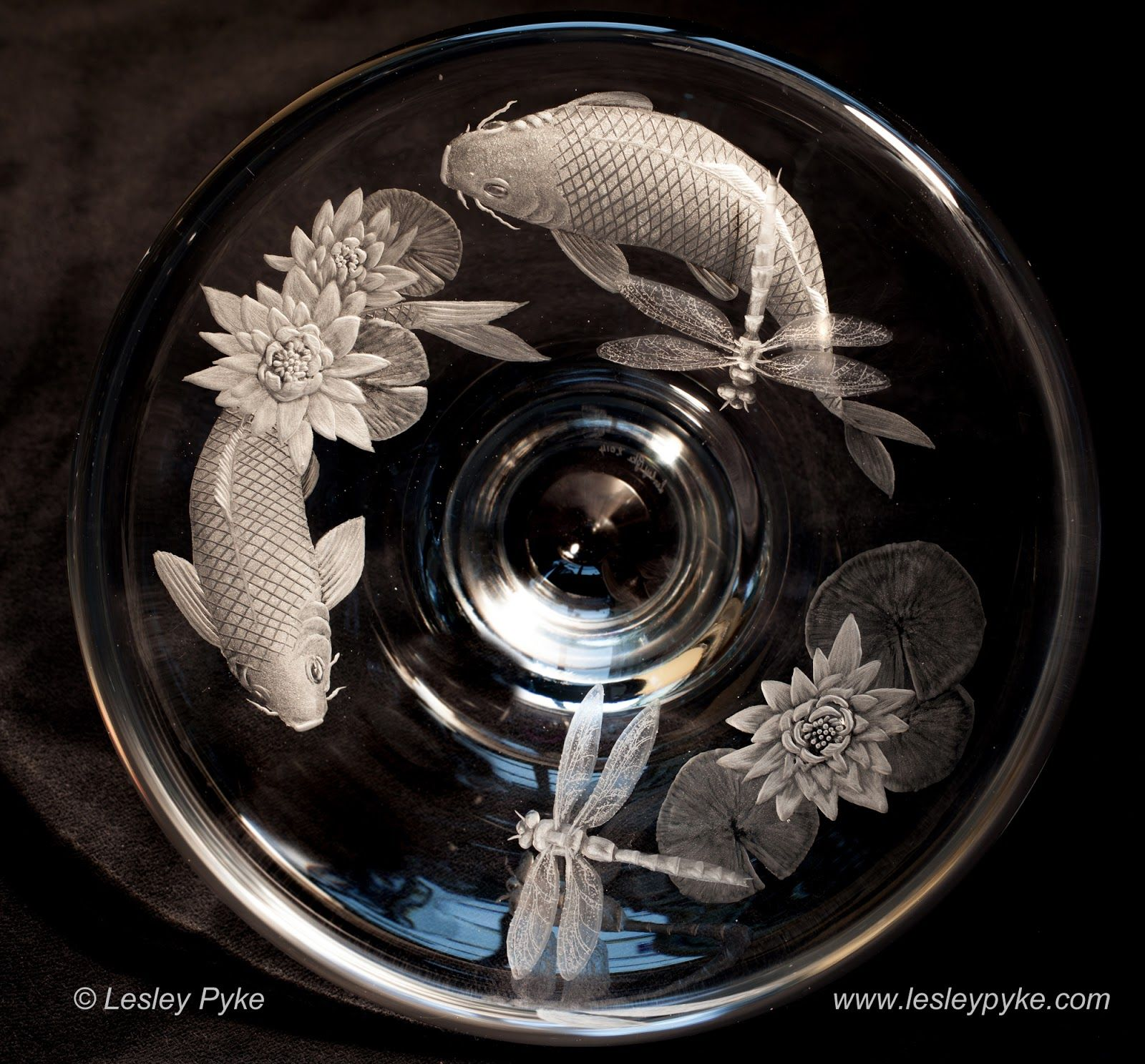Engraved glass ornaments - Lesley Pyke Glass Engraving And Life A Bit Of Everything As Usual Classical