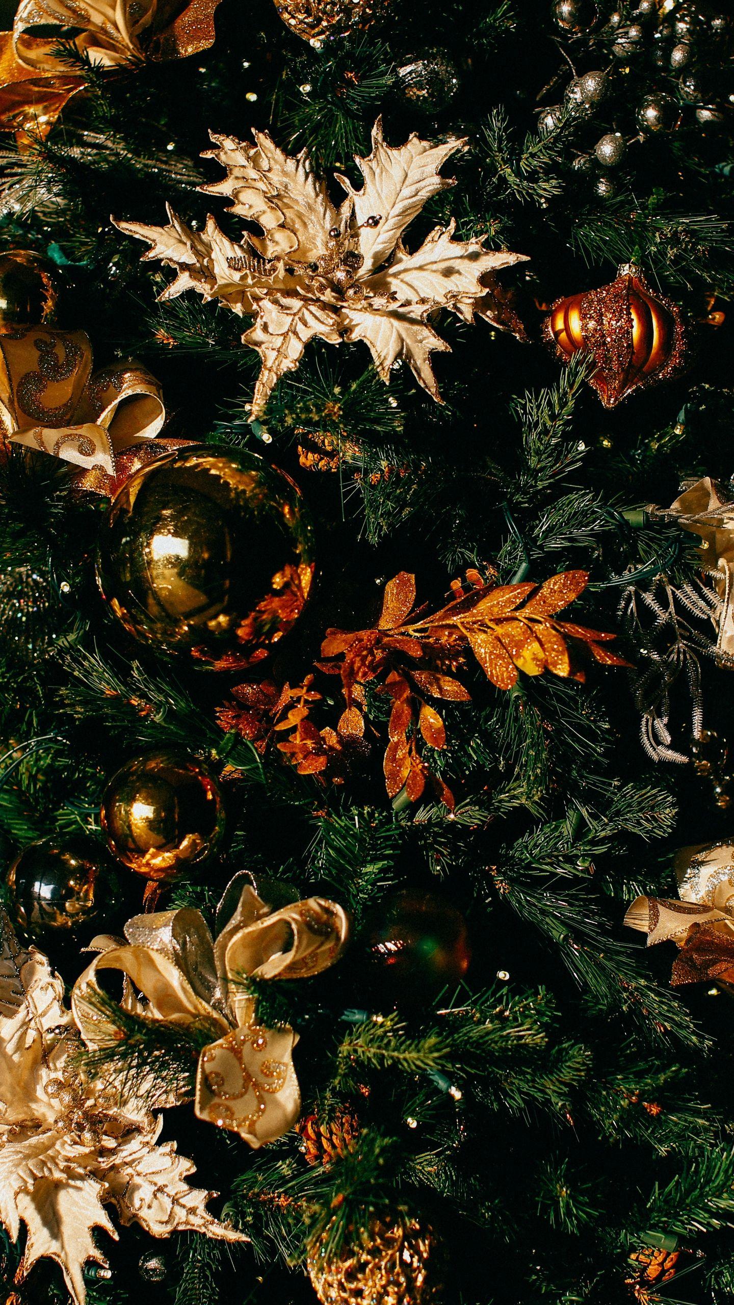 1440x2560 Wallpaper christmas, christmas tree, christmas