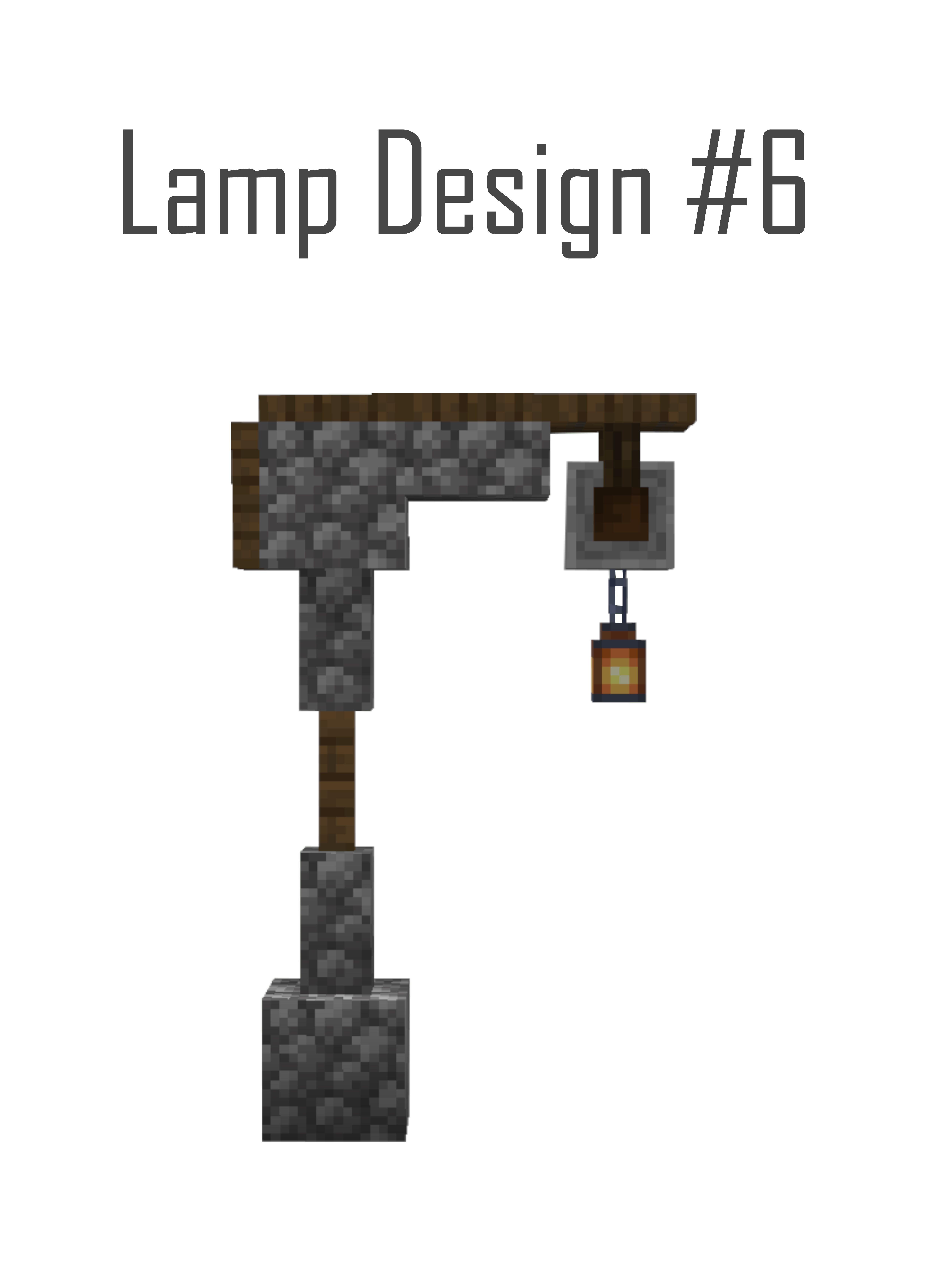 Minecraft Stone Streetlamp Design In 2020 Minecraft Blueprints Minecraft Designs Minecraft Architecture