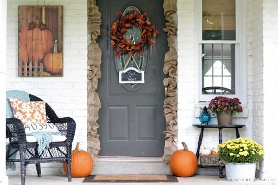 Front Porch Halloween Decor Fall Pinterest Front porches - front porch halloween decorations