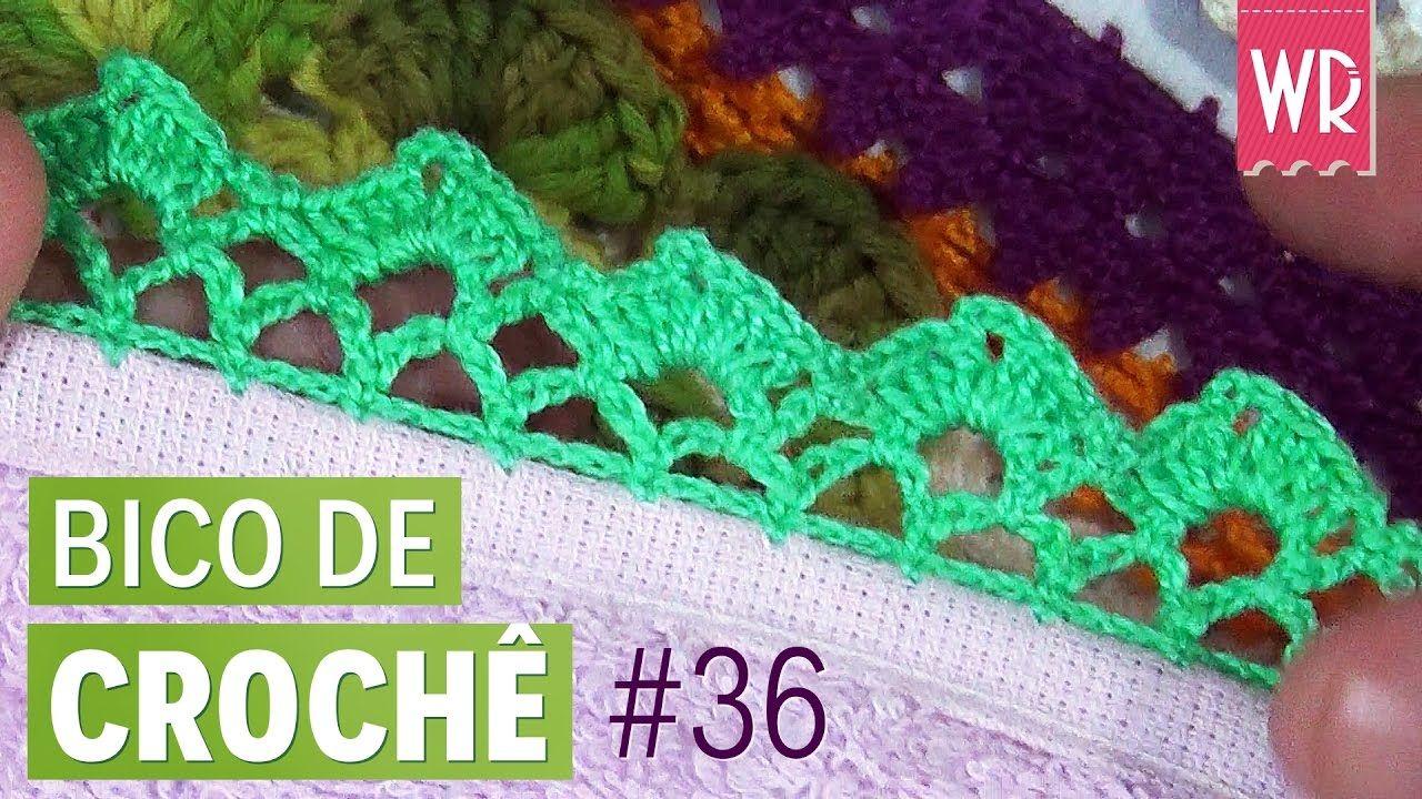 Bico De Croche Facil E Completo Para Iniciante 36 Bicos De
