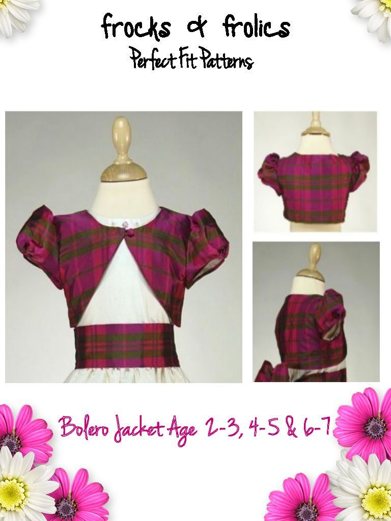 Bolero Jacket PDF Sewing Pattern   things to sew   Sewing, Sewing ...