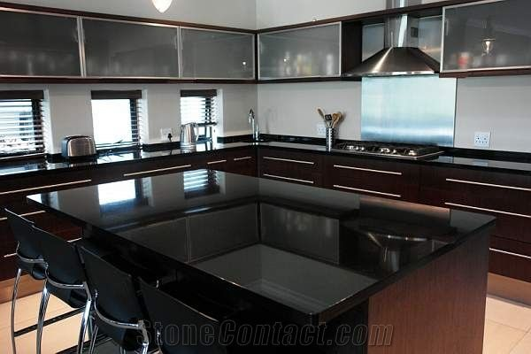 Absolute black south africa granite countertops p169439 1b for Granite countertop width