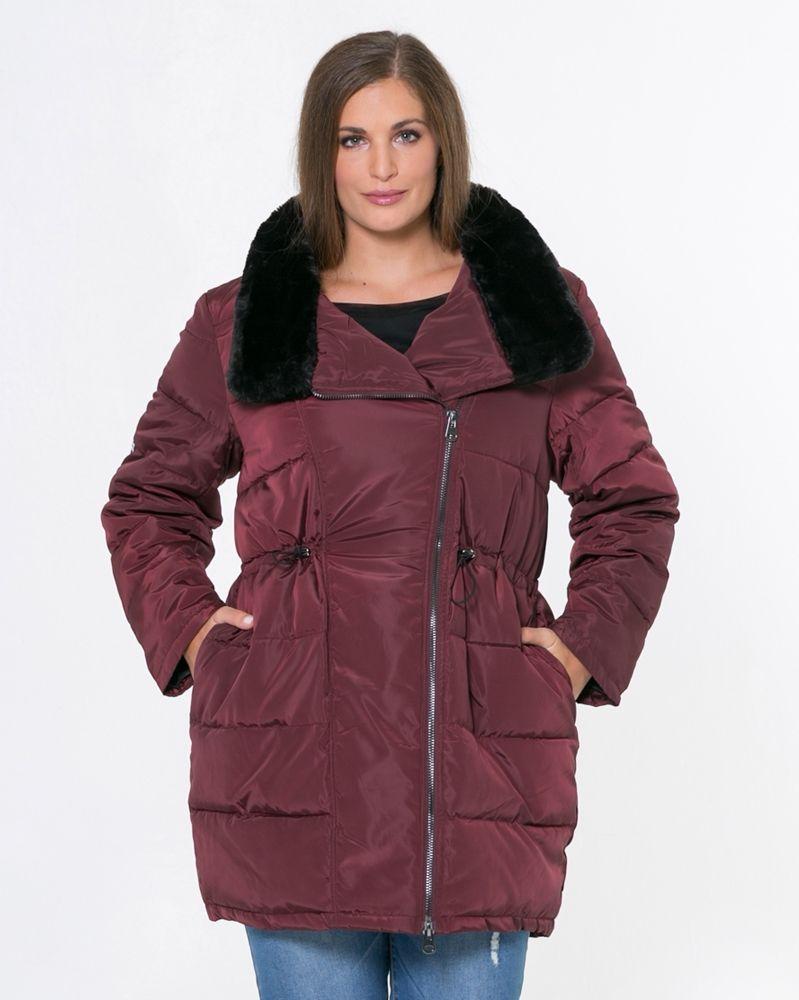 c483812bf455 Μπουφάν με faux-fur γιακά — mat. XXL sizes — Γυναικεία Ρούχα