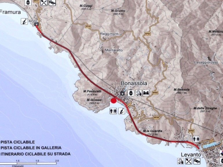 Map To The Path From Levanto To Bonassola Liguria Italy It S A