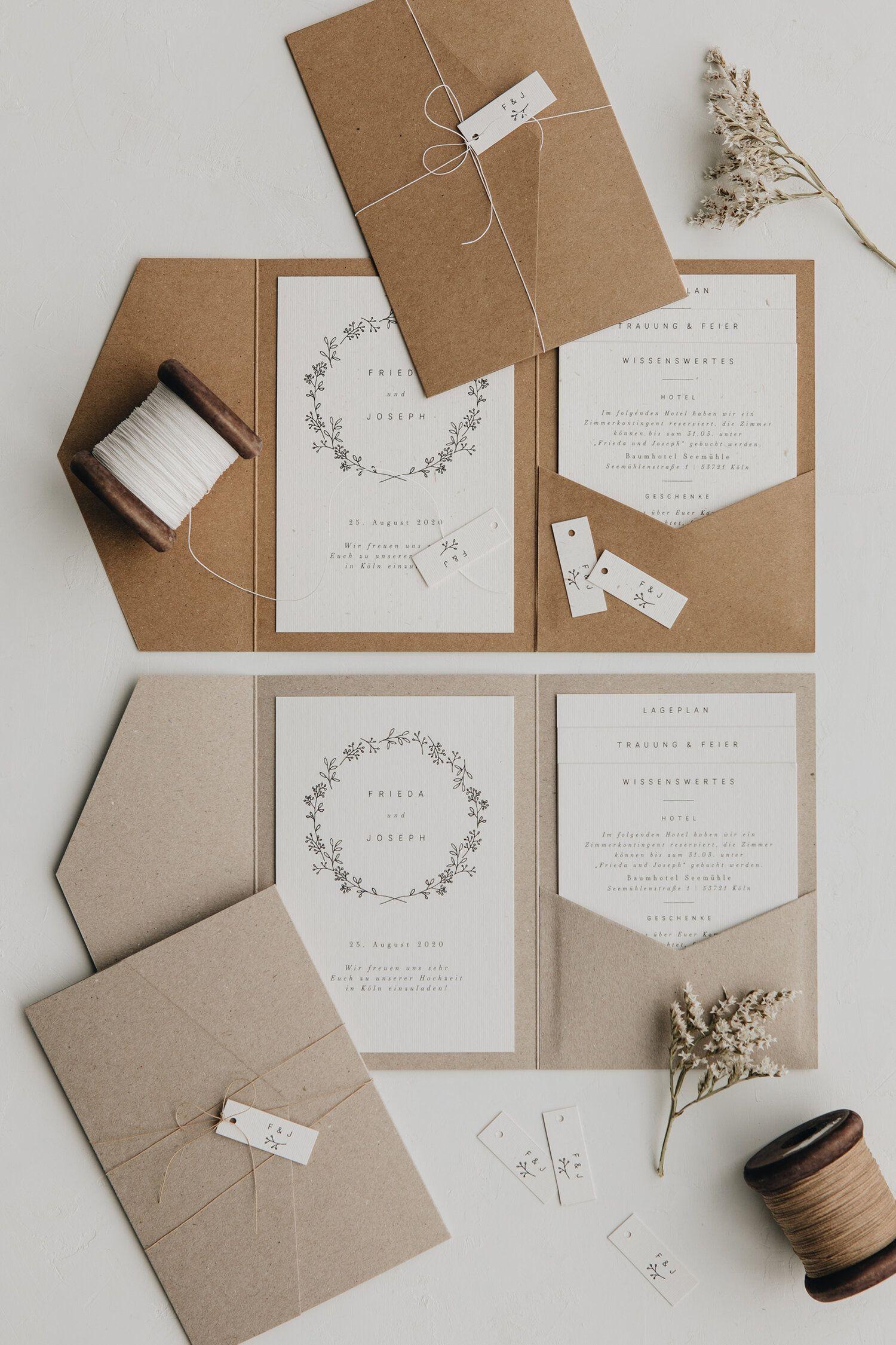 Photo of Pocket Fold Hochzeitseinladung  Set |minimalistisch | Beeren…