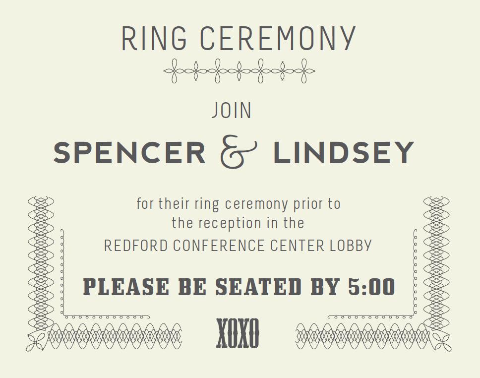 Ring Ceremony Insert Rings ceremony, Wedding