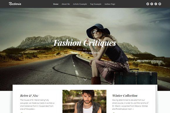 Nectaria - Stylish Ghost Theme by WowThemes.net on @Graphicsauthor