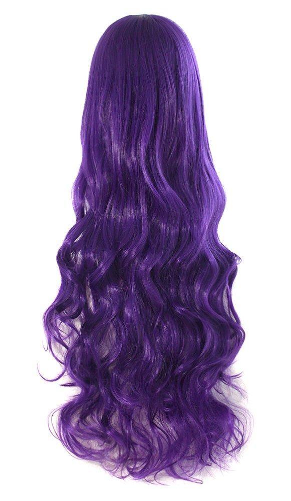Photo of Cosplay Wig Costume Hair Anime Full Wavy Party Wig Log Hair 80 cm – Purple