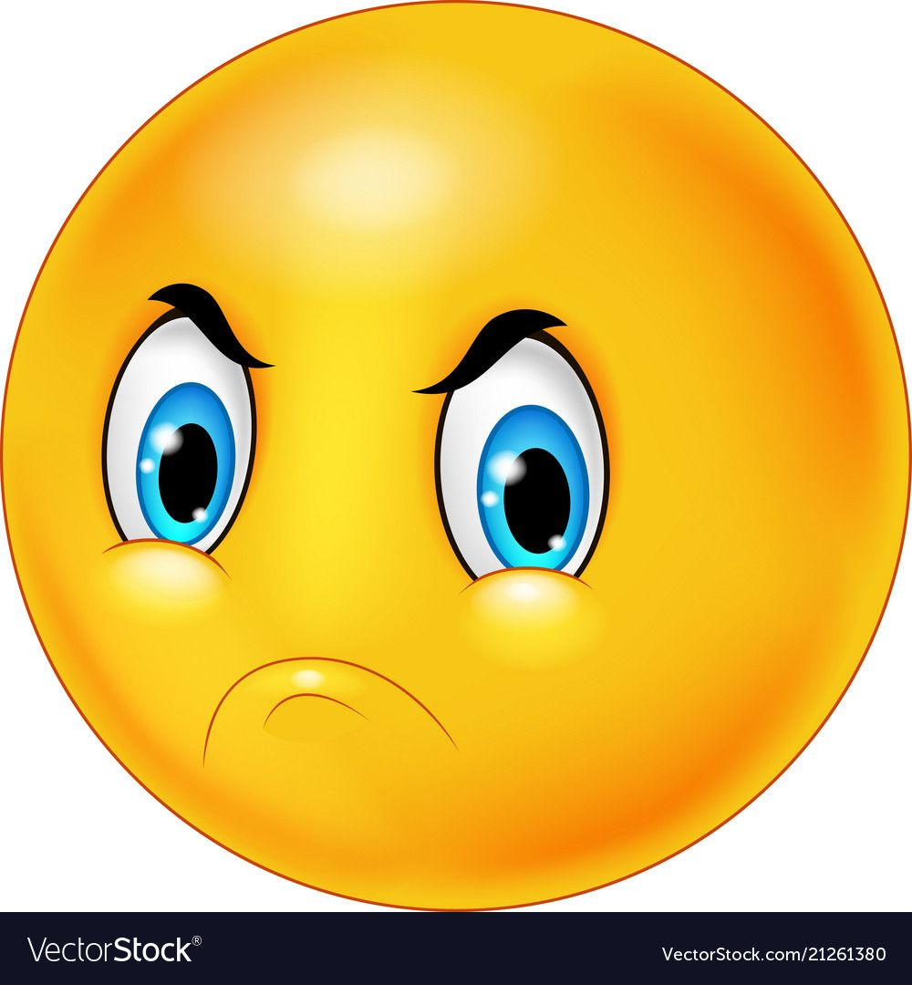 Cartoon Emoticon With Angry Face Vector Image On Smiley Grappig