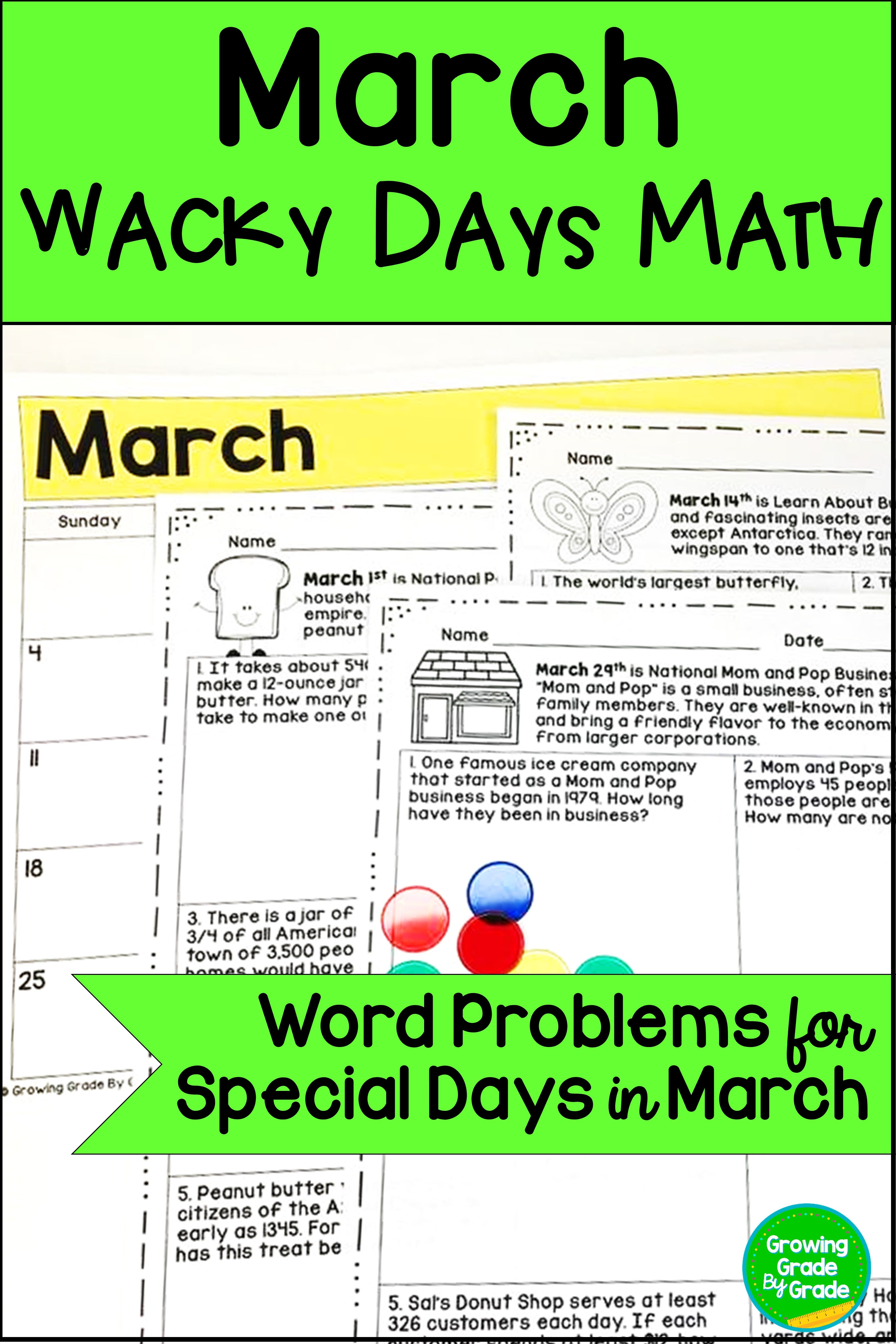 Math Word Problems For March