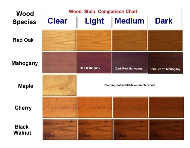 Mahogany stain color charts display case s and