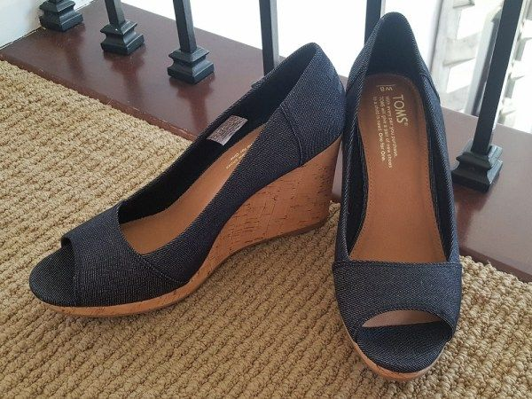 1404ef11e3f Stitch Fix Review April 2017 - Toms Stella Peep Toe Wedge  stitchfix   fashion