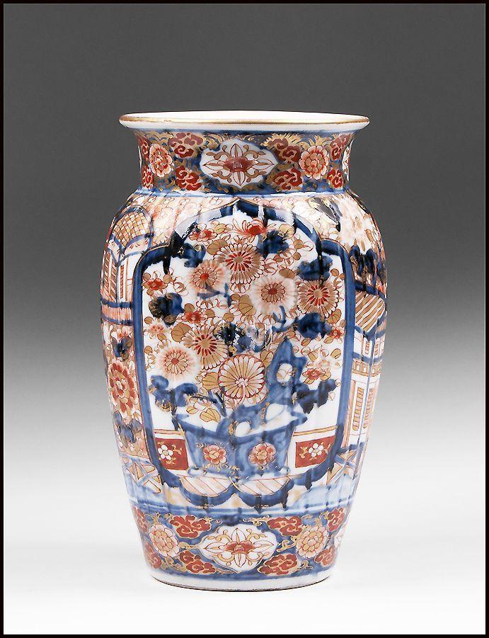 19th Century Arita Ribbed Imari Vase Chinese Ceramics Pinterest