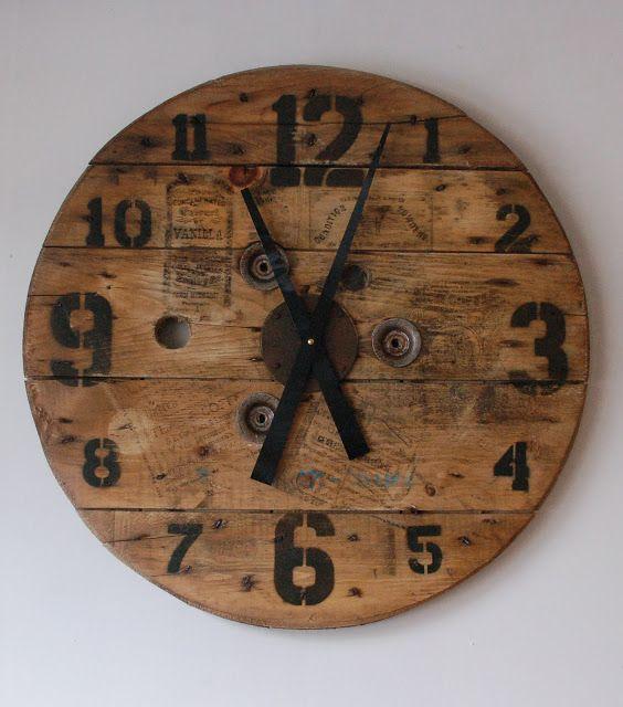 Studio50 Custom Loft Clock 24 Quot Salvaged Spool Face