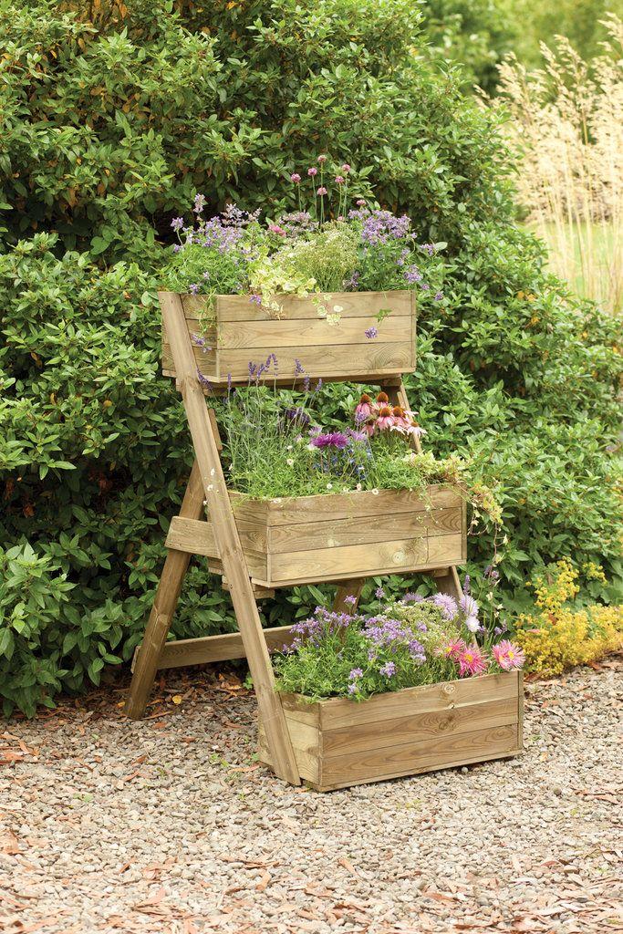 3 Tiered Wooden Garden Planter - 3 Tiered Wooden Garden Planter Farm & Garden Pinterest