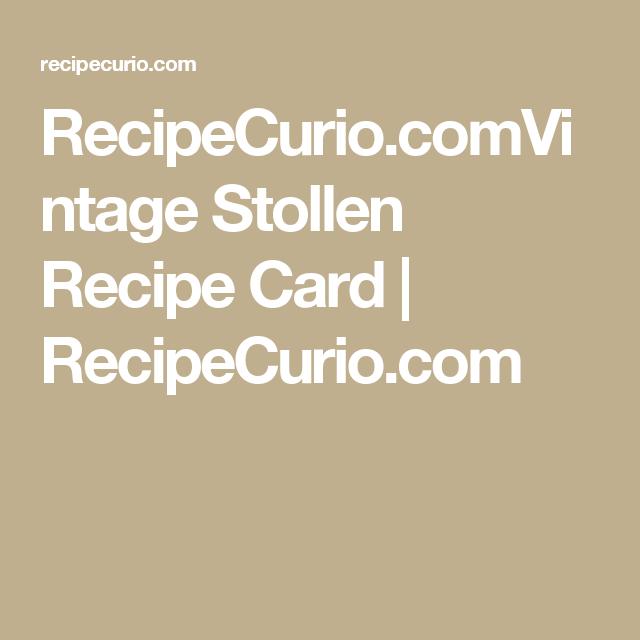 RecipeCurio.comVintage Stollen Recipe Card   RecipeCurio.com