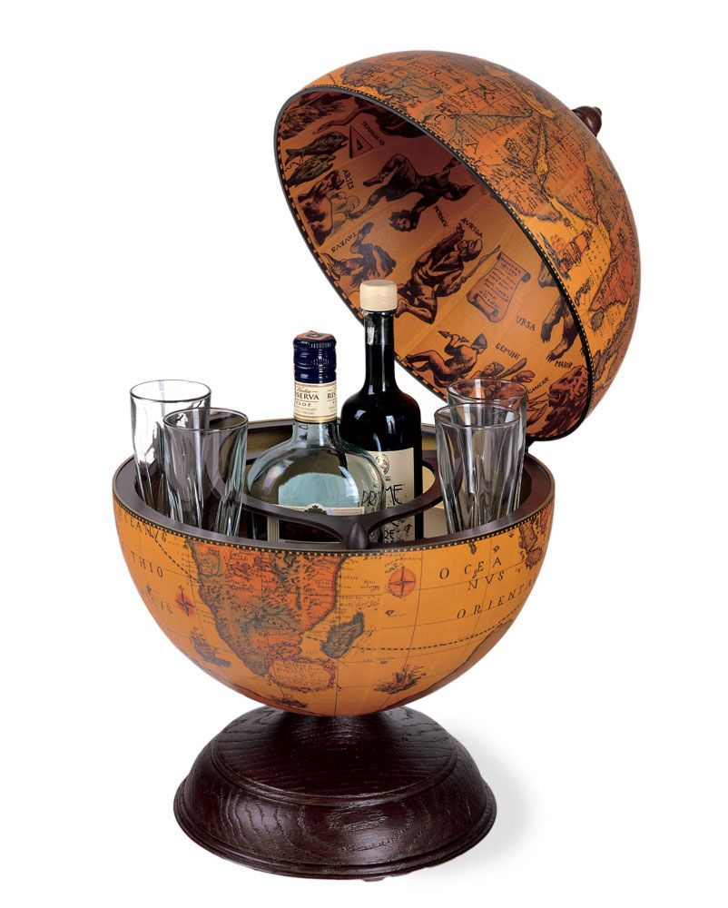 Vintage Table Top Mini Bar Globe Clic Color 13 185 50
