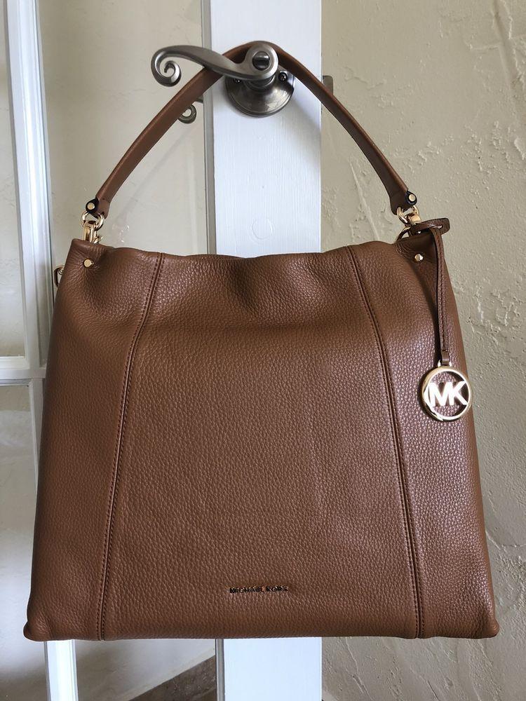 Michael Kors Lex Large Leather Convertible Hobo Bag Acorn Ebay