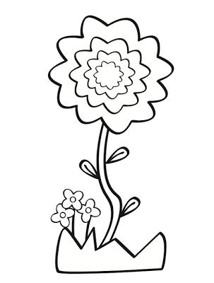 Flores para colorear   Manualidades