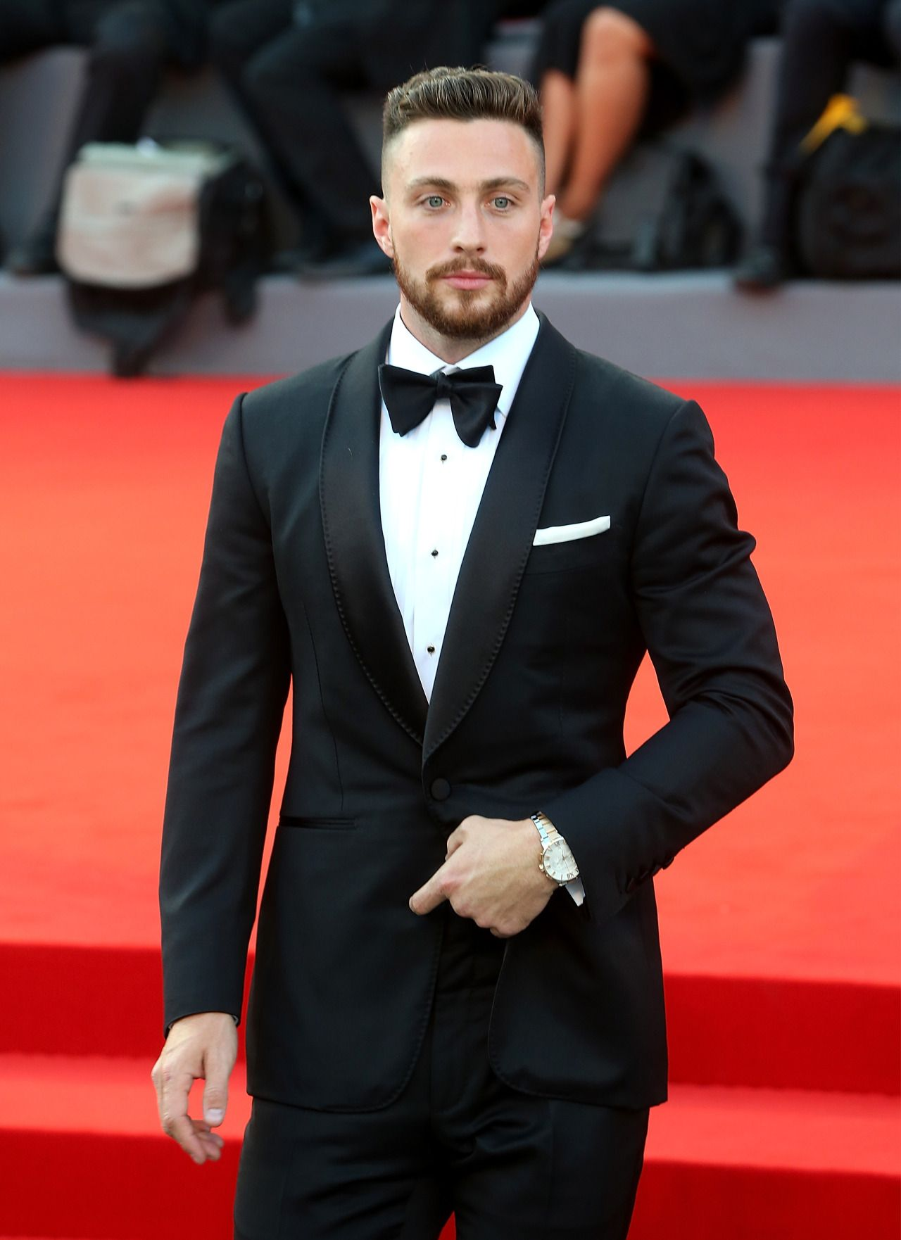 Aaron TaylorJohnson attends the premiere of 'Nocturnal